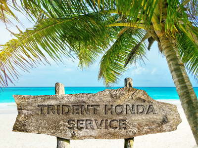Trident Honda Service on the beach