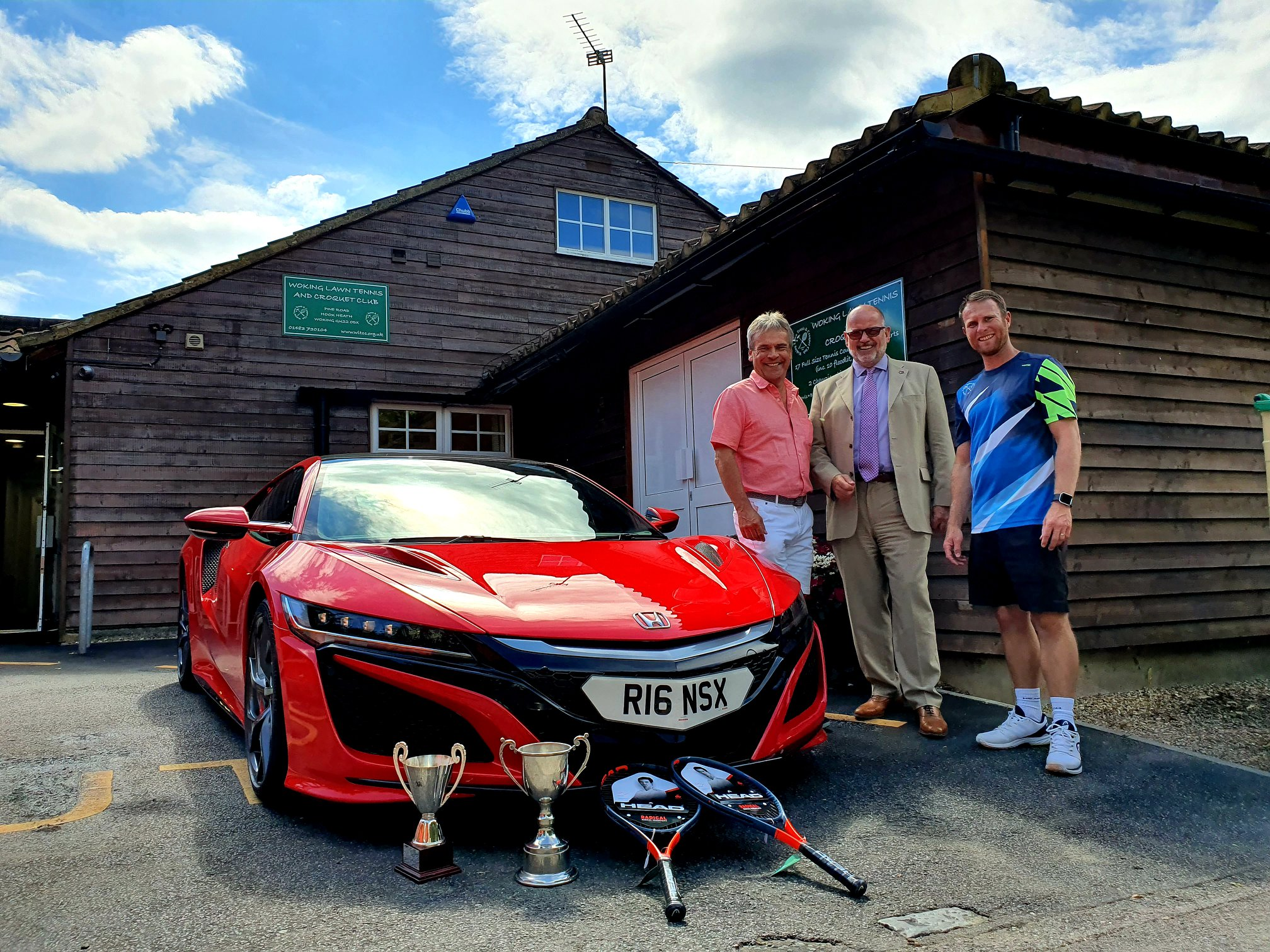 Richard Roberts of Trident Honda with Andrew Kirby and Matt Trevail from Woking LTCC