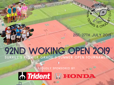 The 92nd Woking Open 2019