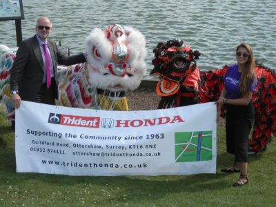 Managing Director Richard Roberts with dragons