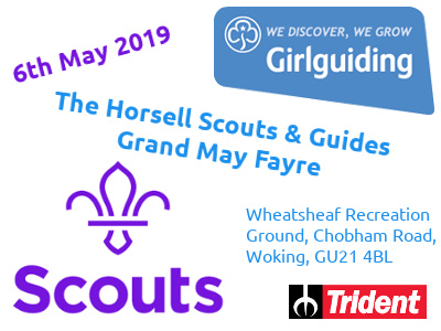The Horsell Scouts & Guides Grand May Fayre Poster