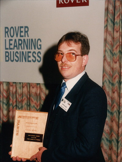 Martin wins 1991 Rover Parts Salesmanship Course
