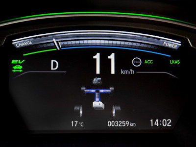 Driver Information Interface in the Honda CR-V Hybrid