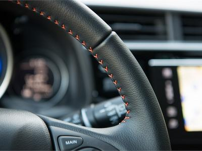 Honda Jazz 2018 Sport - Orange Stitching on Steering Wheel