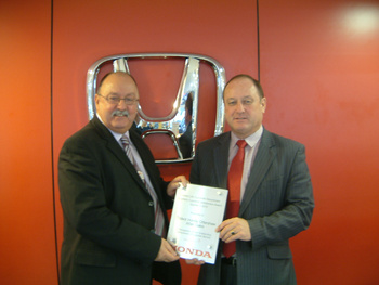 Trident Honda Presented with Customer Satisfaction Award