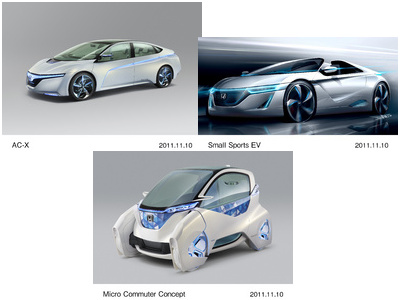 Honda to Unveil Concept Cars at the Tokyo Motor Show 2011