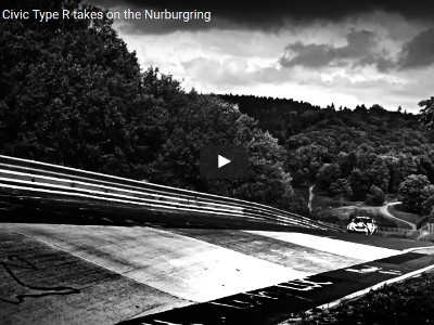 New Civic Type-R at Nurburgring
