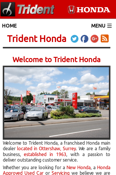 Trident Honda launches new website