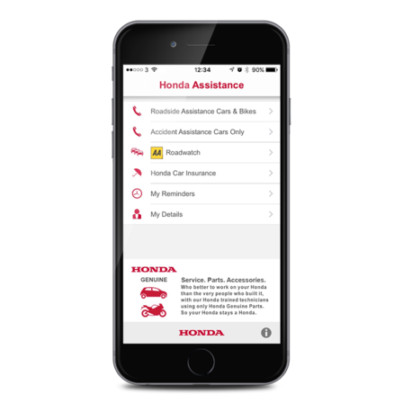 The Honda Breakdown Assistance App