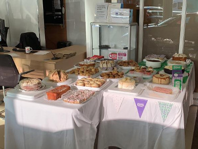 Cakes, cakes and more cakes - all supplied by the staff at Trident Honda