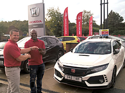 Our first 2017 Civic Type R handover