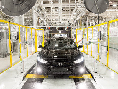 The new Honda Civic is built at Swindon