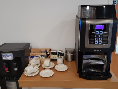 Our new bean-to-cup coffee machine