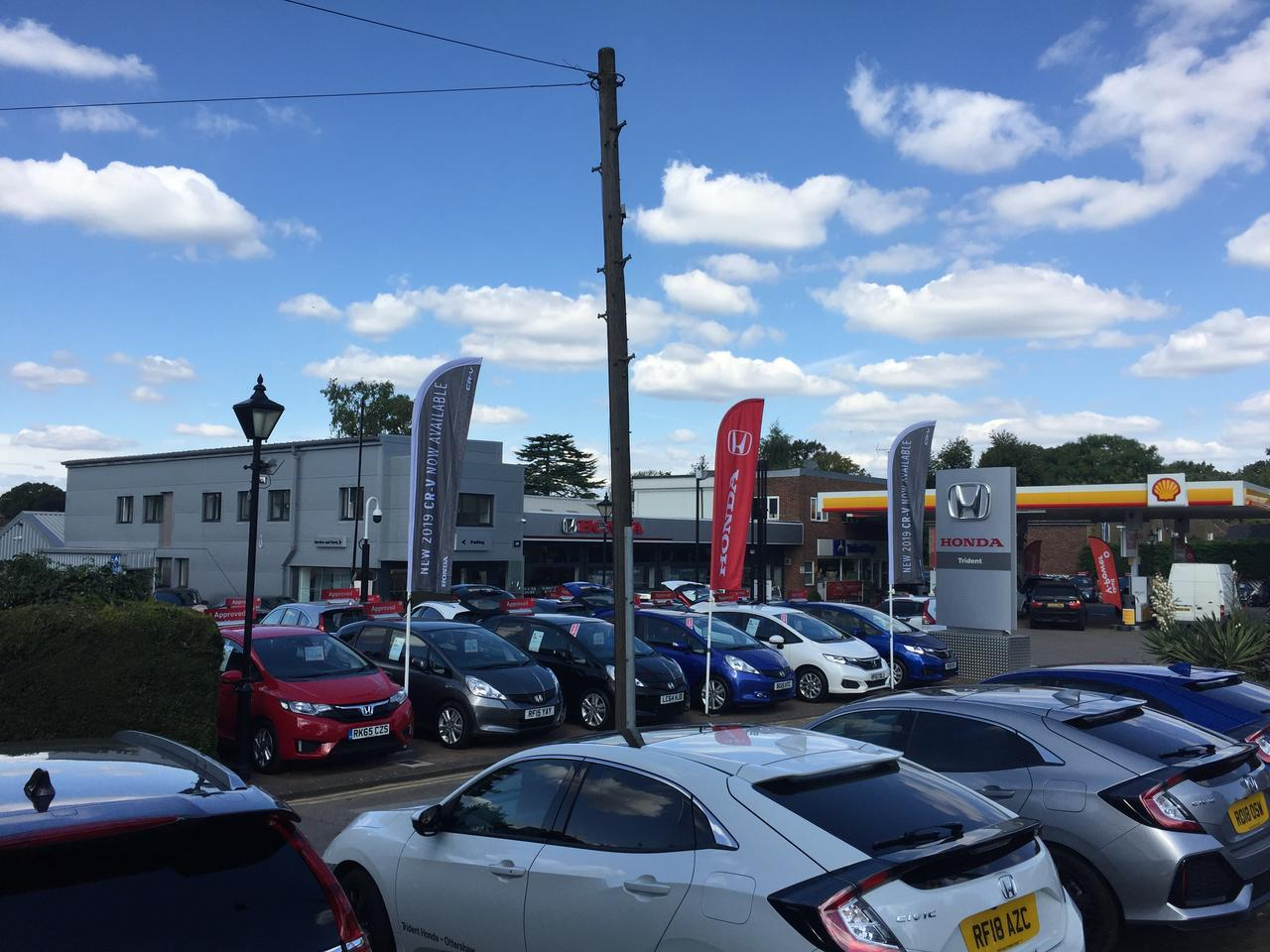 Our new showroom - including Shell forecourt